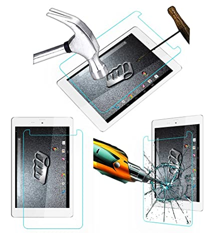 Acm Tempered Glass Screenguard for Micromax Canvas Tab P666 Tablet Screen Guard Scratch Protector Touch Screen Tablet Screen Protectors