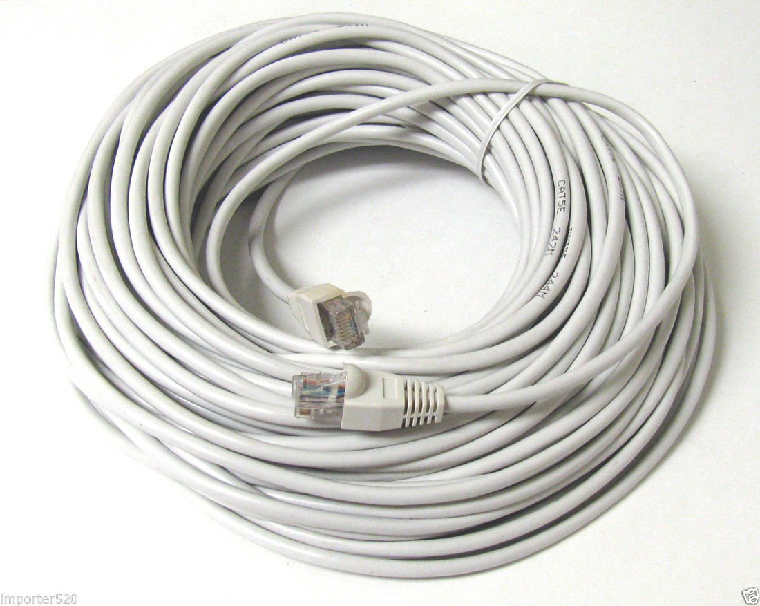 200FT 200 FT RJ45 CAT5 CAT 5 HIGH SPEED ETHERNET LAN NETWORK GREY PATCH CABLE