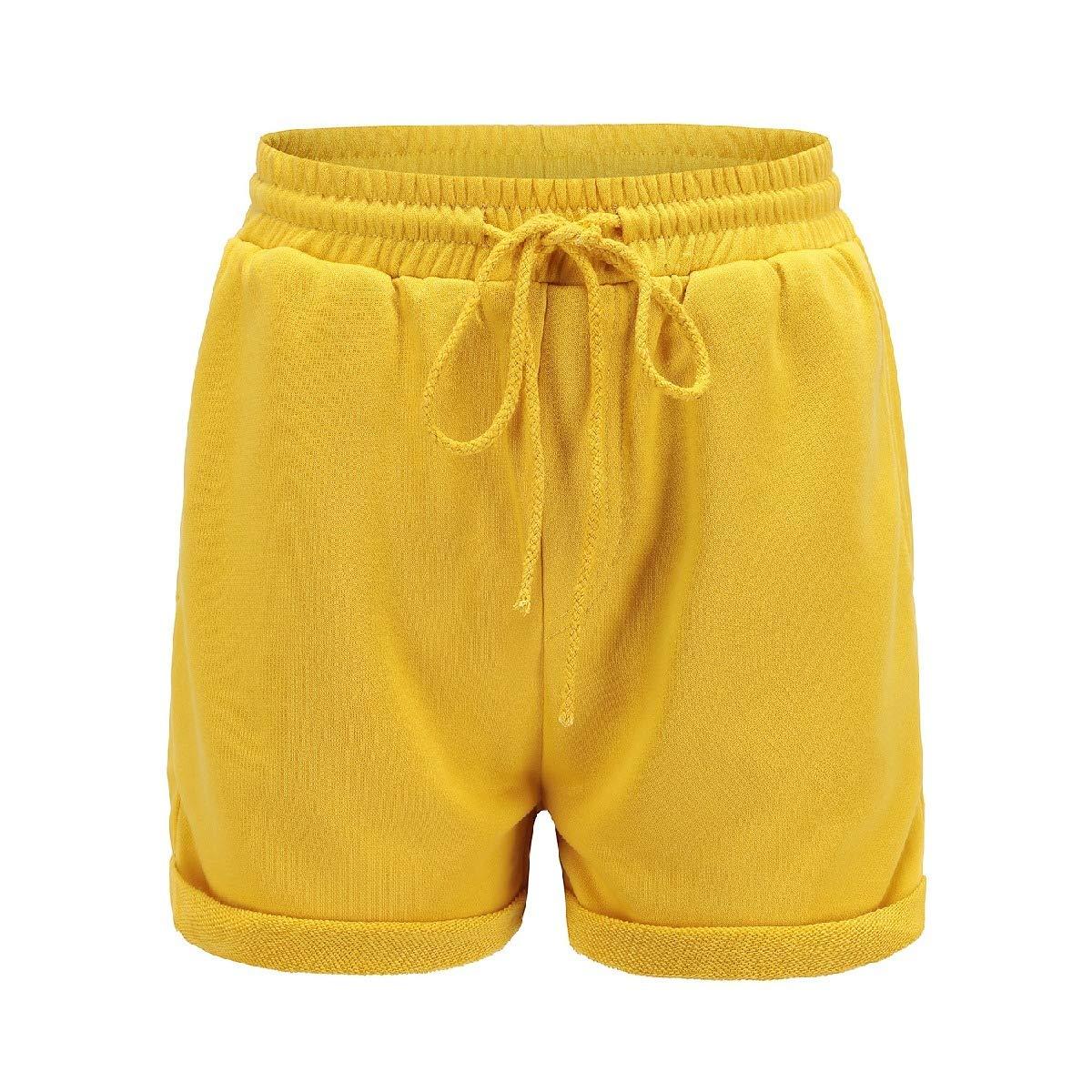 Andopa Womens Flyaway Short Folded Hem Fashionable Casual Leisure Short