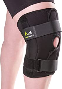 BraceAbility 5XL Plus Size Knee Brace   Bariatric Hinged Knee Wrap for Big & Wide Thighs to Support Meniscus Tears, Arthritis Joint Pain, Ligament Injuries & Sprains (5XL)