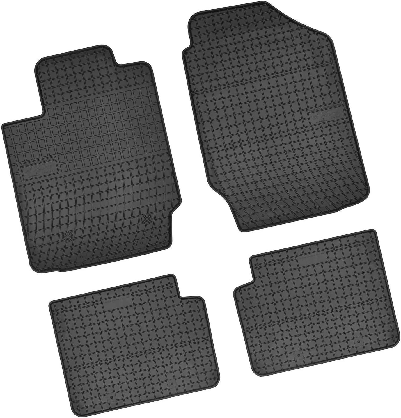 Bär Afc Ty03886 Gummimatten Auto Fußmatten Schwarz Erhöhter Rand Set 4 Teilig Passgenau Für Modell Siehe Details Auto