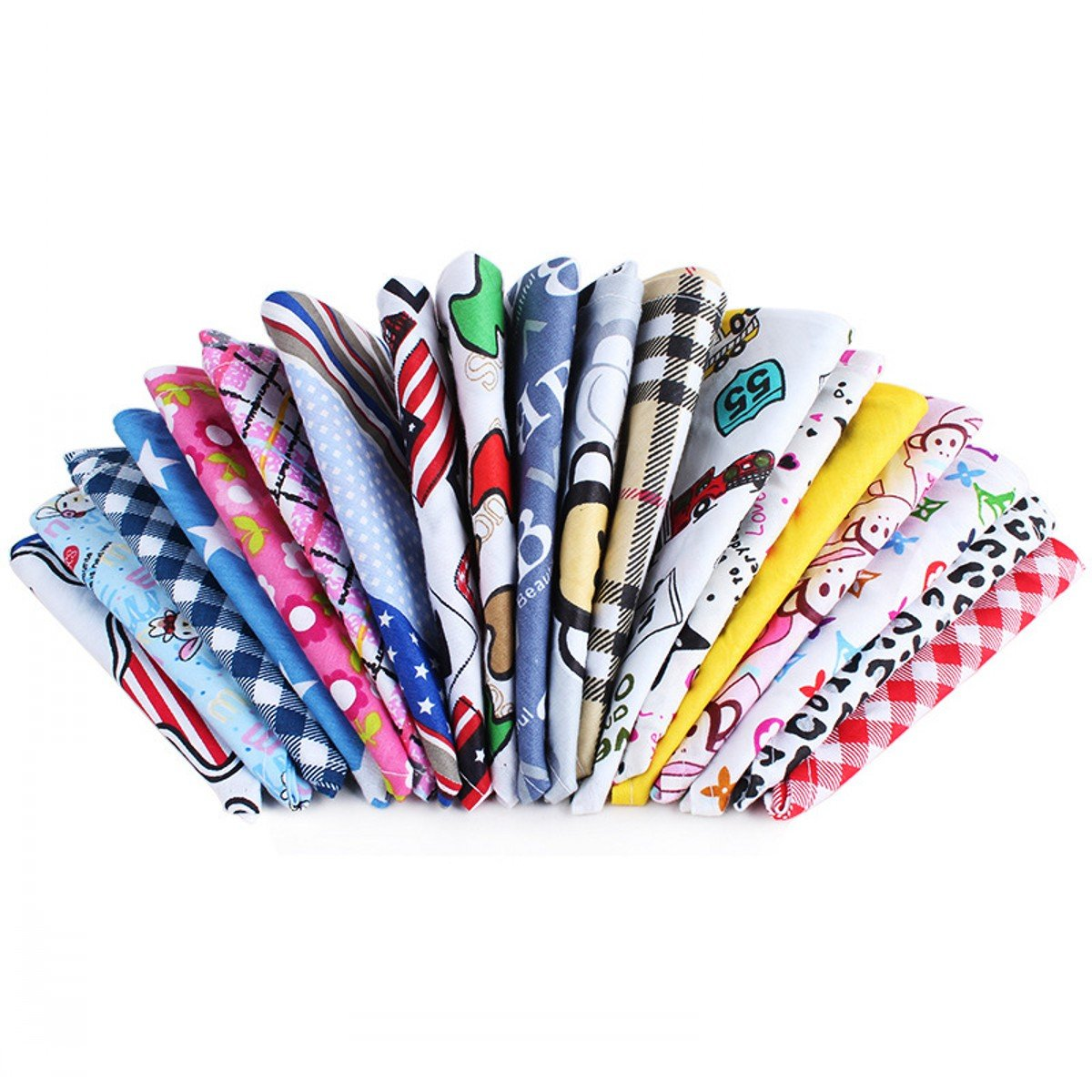 PET SHOW Pet Dog Cat Puppy Bandana Bibs Triangle Head Scarfs Accessories Assorted Color for Girls Pack of 10