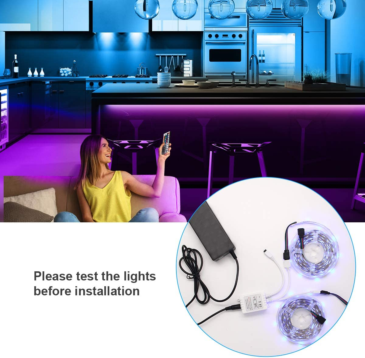 Non-Waterproof CHARKEE LED Lights DIY Decoration LED Lights for ...