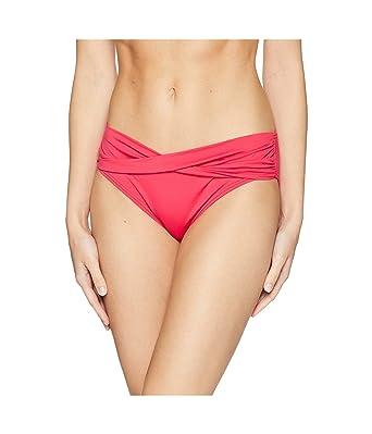 48a4bf09cd086 Amazon.com  Tommy Bahama Womens Pearl High-Waist Twist Front Pant Bikini  Bottoms Cerise Size XS  Clothing