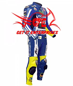 Valentino Rossi Moto Motocicleta Racing Traje de Piel 2014 réplica ...