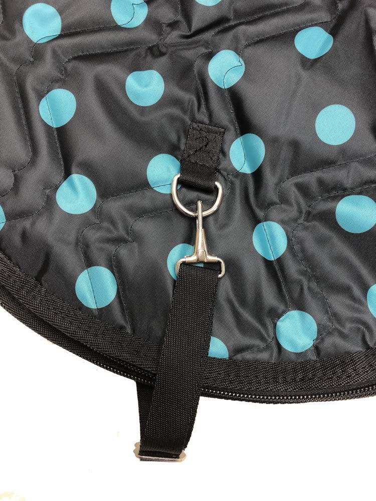 AJ Tack Wholesale English Horse Saddle Carrier Travel Bag Case All Purpose Quilted Black Turquoise by AJ Tack (Image #2)