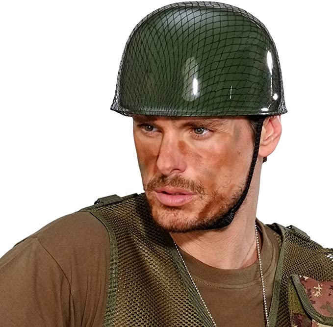 NET TOYS Yelmo de Soldado - Verde | Casco Militar | Yelmo ...