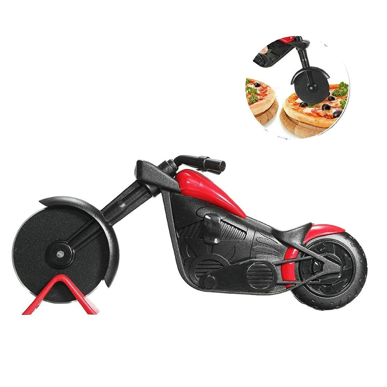 GuDoQi Motorbike Pizza Cutter Stainless Steel Pizza Chopper QBY
