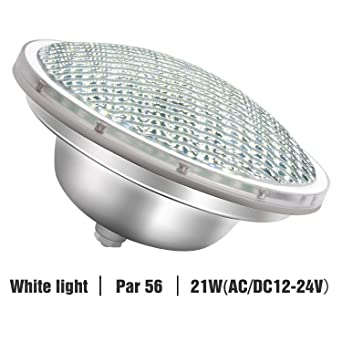 Roleadro 21w Blanco Par56 Led para Piscina Iluminacion Light Pool Impermeable Luz de Piscina IP68 Luz