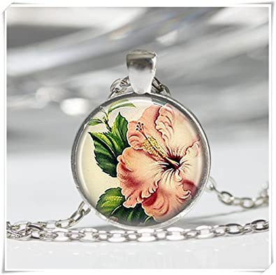 Amazoncom Sea Maidenon Sale Pink Hibiscus Necklace Tropical