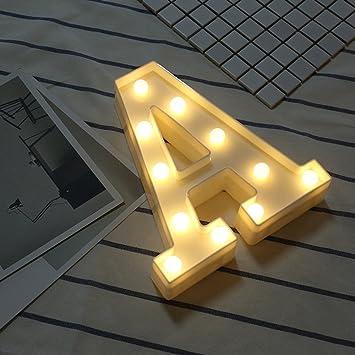 Beleuchtete Buchstaben Nachtlichter Dekoration Led Neon Lampen Fur Geburtstag Party Hochzeit Kinder Geschenk Az A