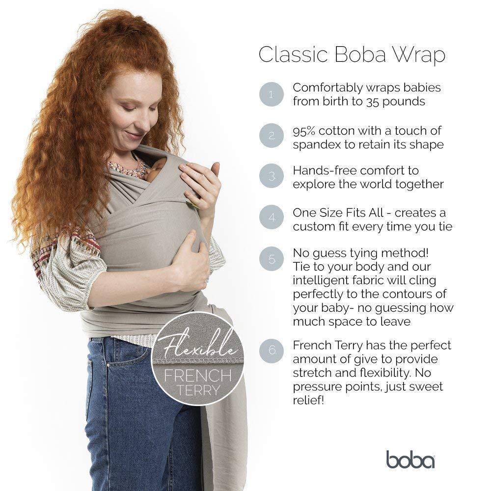 Amazon Com Boba Baby Wrap Carrier Grey The Original Child And