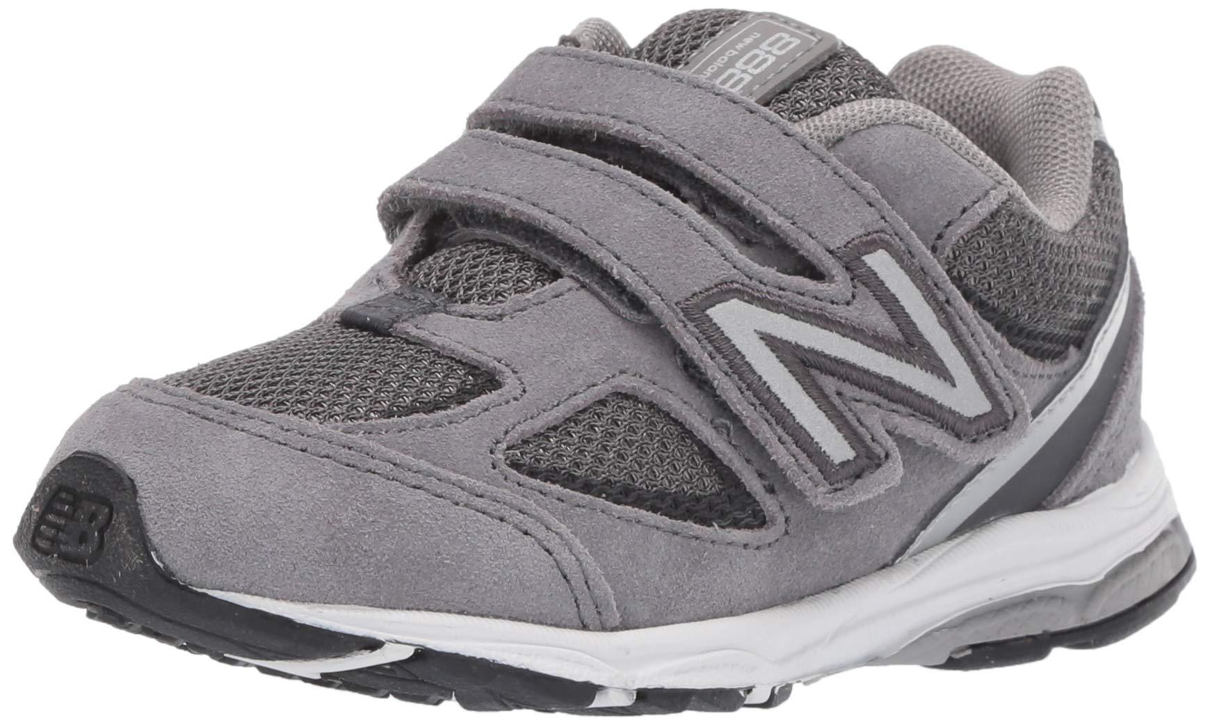 New Balance Boys' 888v2 Hook and Loop Running Shoe, Dark Grey, 2 M US Infant by New Balance (Image #1)