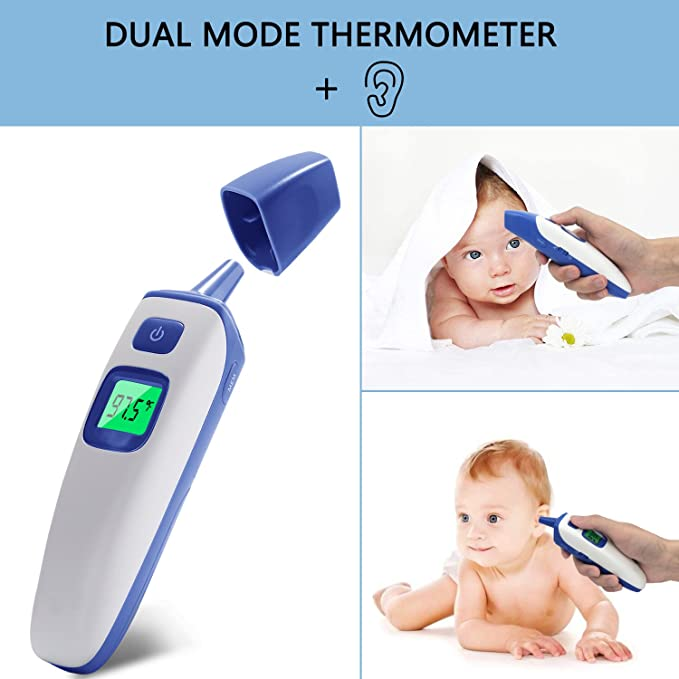 Amazon.com: Fxexblin Forehead and Ear Thermometer, Digital Infrared Thermometer with Fever Indicator, Suitable for Baby, Infants, Toddlers and Adult CE&FDA ...