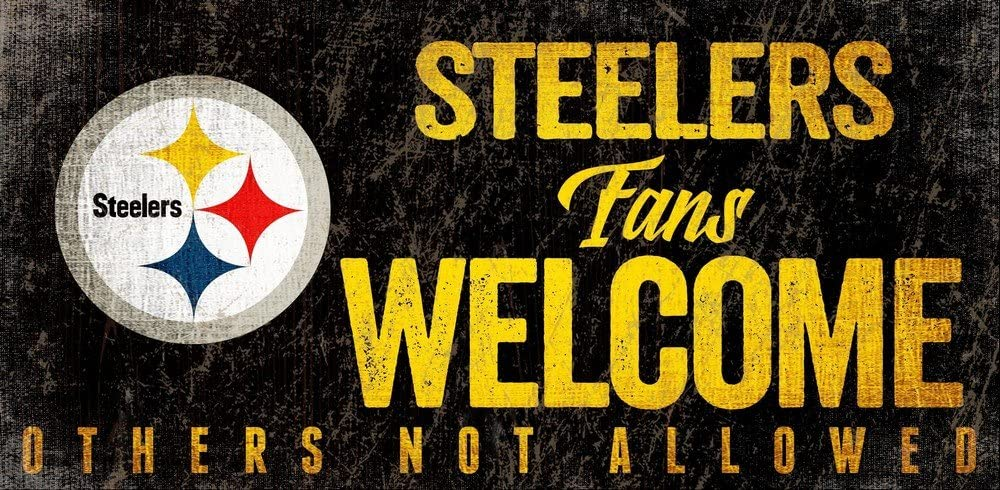 Fan Creations Pittsburgh Steelers Fans Welcome Sign, Multi