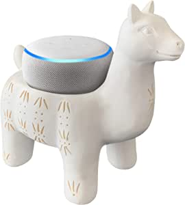 Dekodots Smart Speaker Table Stand (Llama) - Decorative Holder for Amazon Echo Dot or Google Home Mini - Portable Design, No Sound or Microphone Interference - Durable Poly-Resin