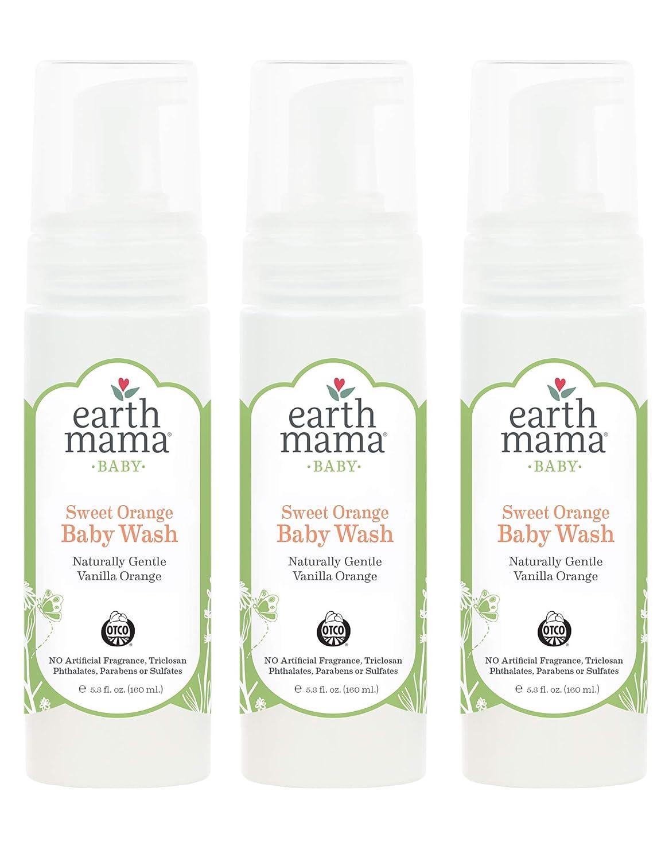 Earth Mama Angel Baby Organic Angel Baby Shampoo & Body Wash, 5.3-Ounce Bottles (Pack of 3) EMA270