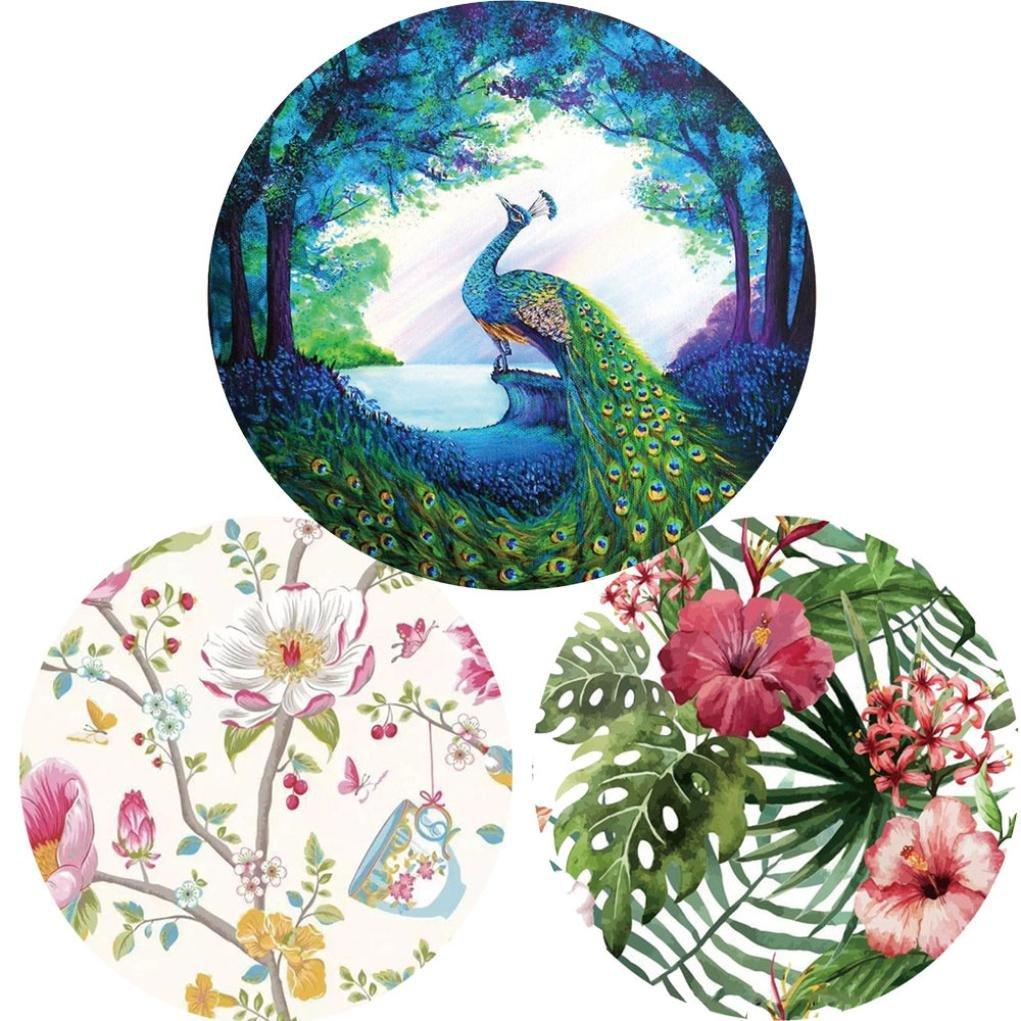 LLguz Fashion Multifunction Popular Flowers And Birds Round Tapestry Beach Towel Scarf Yoga Mat Towel Blanket