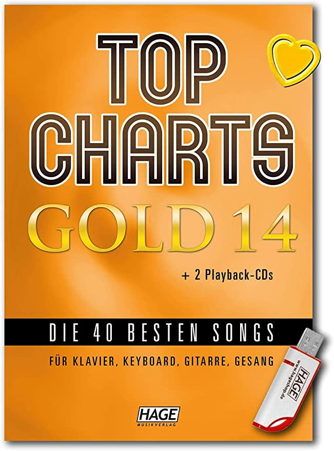 Top Charts Gold 14 - Libro de canciones para piano, teclado ...