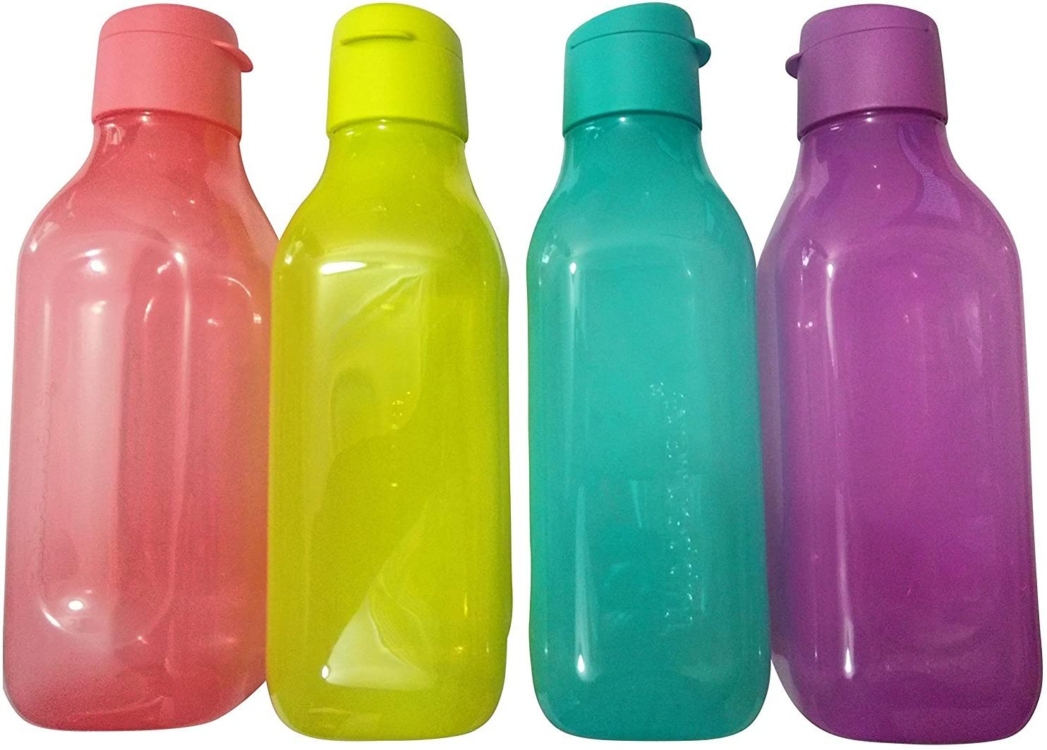 Tupperware Aquasafe Square Fliptop Water Bottle - 1 Litre, Set of 4,
