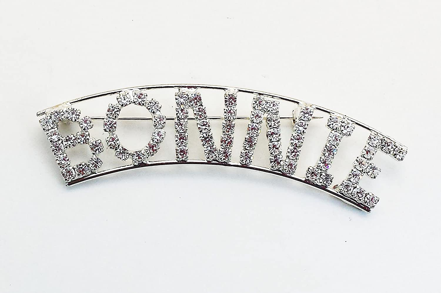 Personalized Rhinestone Bonnie with a Magnet Back By Detti Originals