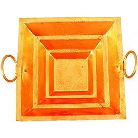 Santosh Bhakti Bhandaar Copper Yagya Havan Poojan Purpose, 15 x 15 x 5 cm (Brown)