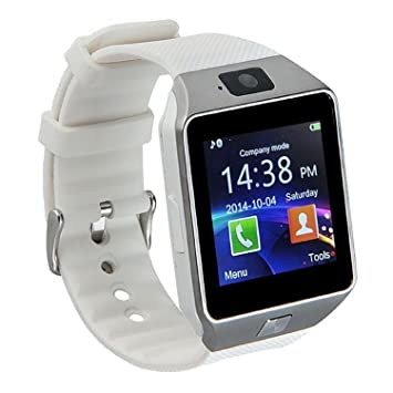 GZDL Bluetooth Smart Watch DZ09 Smartwatch GSM SIM Card With Camera For Android IOS White