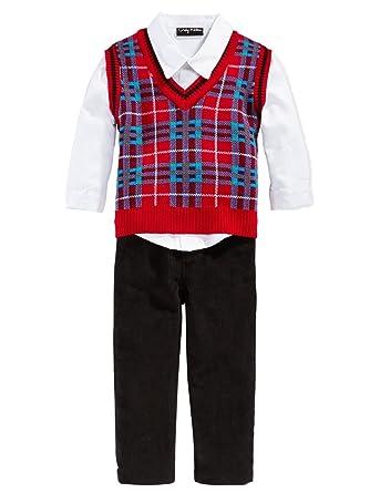 7aa6b95c4b5d Amazon.com  Only Kids Infant Boys 3 Piece Dress Up Outfit Pants ...