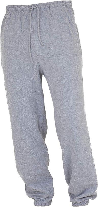 Floso - Pantalón de Chándal/Gimnasia/Deporte/Educación física Muy Holgados para Niños/Niñas Unisex con bajo elástico (9-10 años, Altura 134-140 cm) (Gris): Amazon.es: Ropa y accesorios