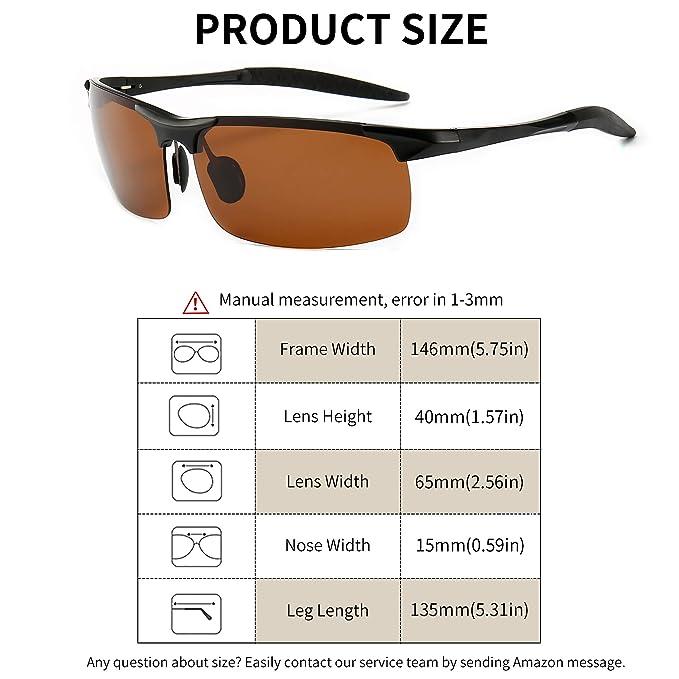Amazon.com: SUNGAIT Gafas de sol polarizadas para hombre ...