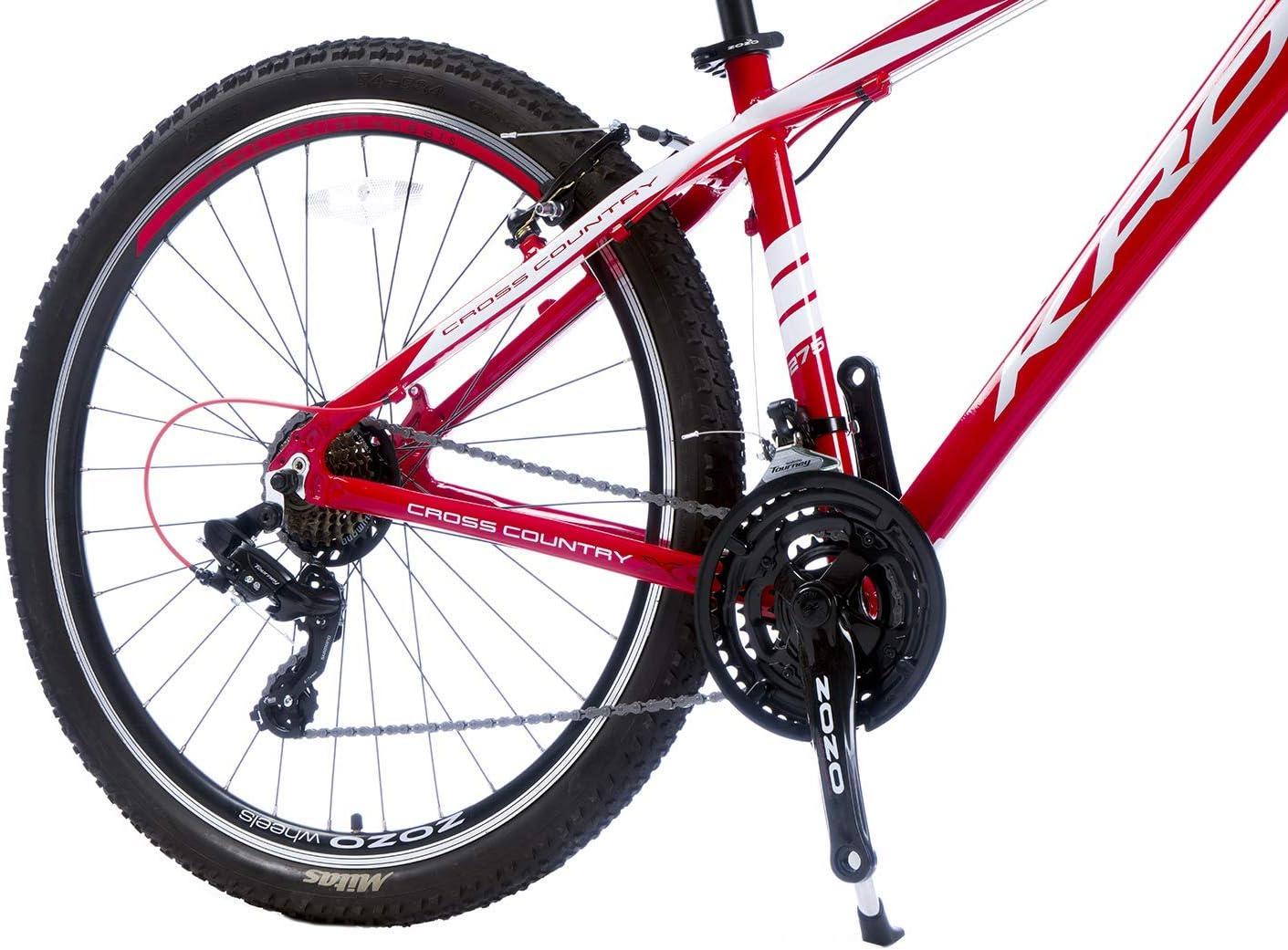 Jugendfahrrad 16 Zoll 18 Zoll 20 Zoll Rahmen MTB Erwachsenen KRON XC-100 Hardtail Aluminium Mountainbike 26 Zoll 27.5 Zoll 29 Zoll 21 Gang Shimano Kettenschaltung mit Scheibenbremse oder V-Bremse