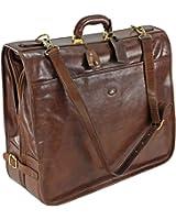 The Bridge Leather garment sleeve STORY VIAGGIO Suiter brown 07562001/14