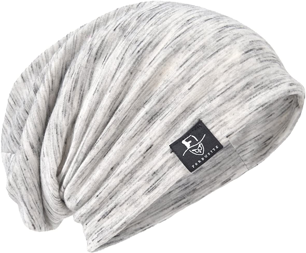 JESSE · RENA Men's Chic Striped Thin Baggy Slouch Summer Beanie Skull Cap Hat