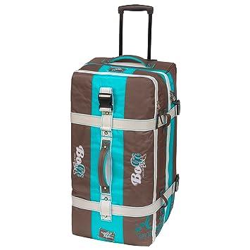 Bogi Bag chariots voyage, sacs de voyage, sacs de sport, sacs de loisirs - 110 litre - turquoise / brun