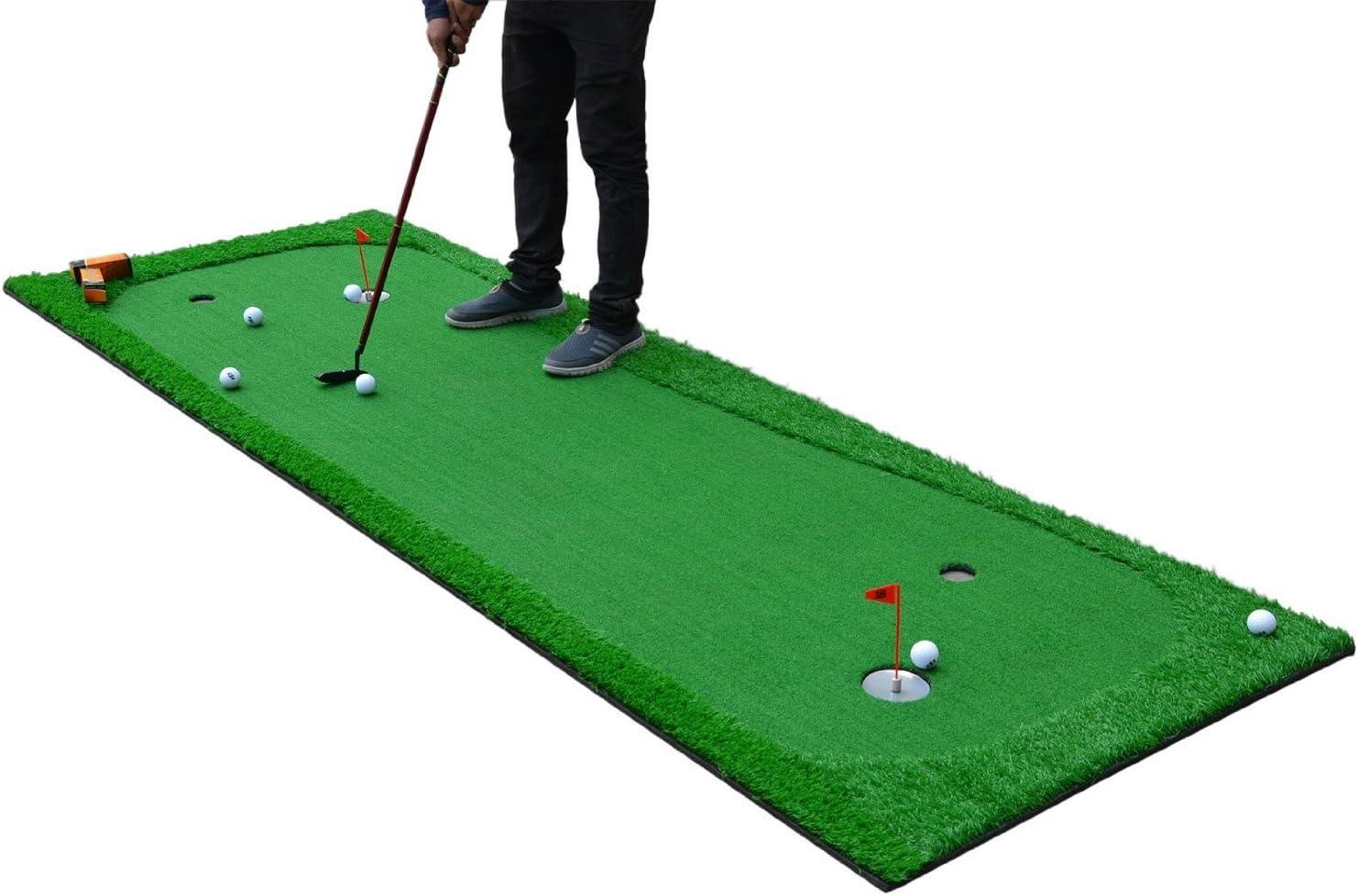 77tech Golf Putting Green Système Professionnel Practise Vert Long Difficiles Intérieur/extérieur de Putter de Golf d'entraînement Tapis Aide à l'équipement