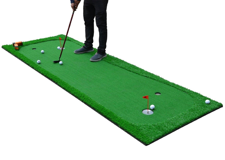 77tech Large Artificial Grass Golf Putting Green Mat Indoor/Outdoor Golf Training Aid Equipment Mat (3.3'X10') by 77tech
