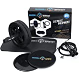 mandrill Ab Roller, Core Sliders, and Jump Rope Exercise Bundle, Body, Legs and Arms Fitness to Build Strength, Tone…