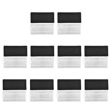 KEEPOW 20 Pcs Filtros de Repuesto para Ecovacs Deebot N79 N79S Robotic, Incluye 10 filtros