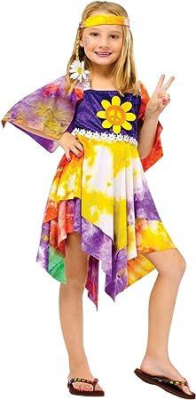 Daisy Hippie Niña Disfraz de niños: Amazon.es: Juguetes y juegos