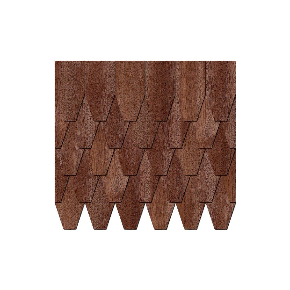 Chapa de madera auténtica Tejas oscuros. – Forma de y Rombo – Tamaños y de cantidad de selección de, 500 unidades, 50 x 25 mm bae0c8