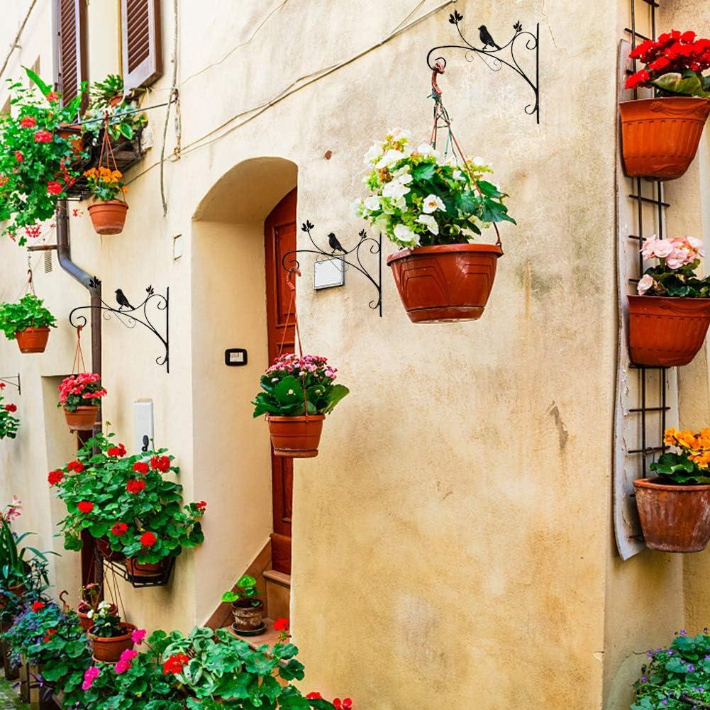 Appendiabiti da parete in ferro per piante staffa sospesa per gancio per fiori