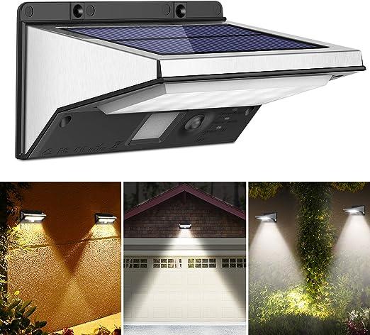 ACCIAIO Inossidabile 2 in 1 Energia Solare PIR Sensore Di Movimento Sicurezza Luce Muro Nuovo