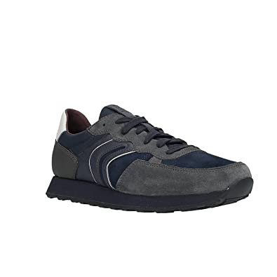 Geox U Vincit B, Sneakers Basses Homme, Gris (Anthracite/Navy C9af4), 45 EU
