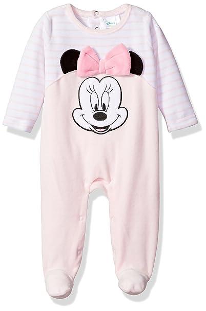 Amazon.com: Disney Baby Minnie Mouse niña velvetón Footie ...