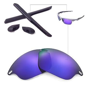 5441481bc19 Walleva Lenses And Rubber Kit(Earsocks+Nosepads) for Oakley Fast Jacket  Sunglasses -