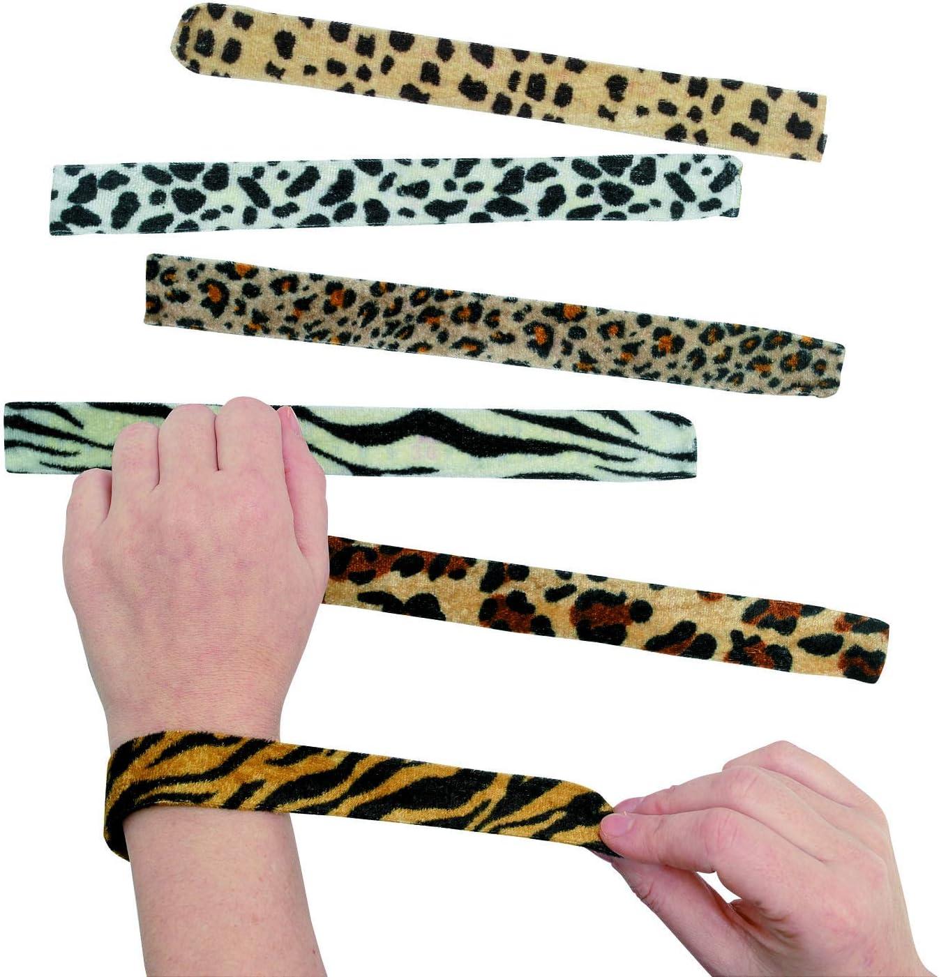 B0001ZJ7NK Fun Express Animal Print Slap Bracelets - Assorted 12 Pack 71u0WV5adpL