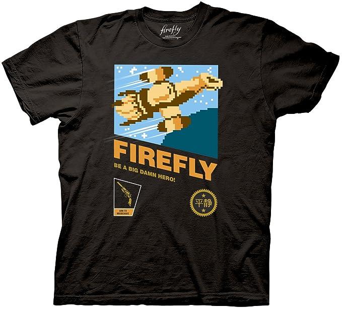 Amazon.com: Firefly Serenity de 8-bits Barco playera, M ...