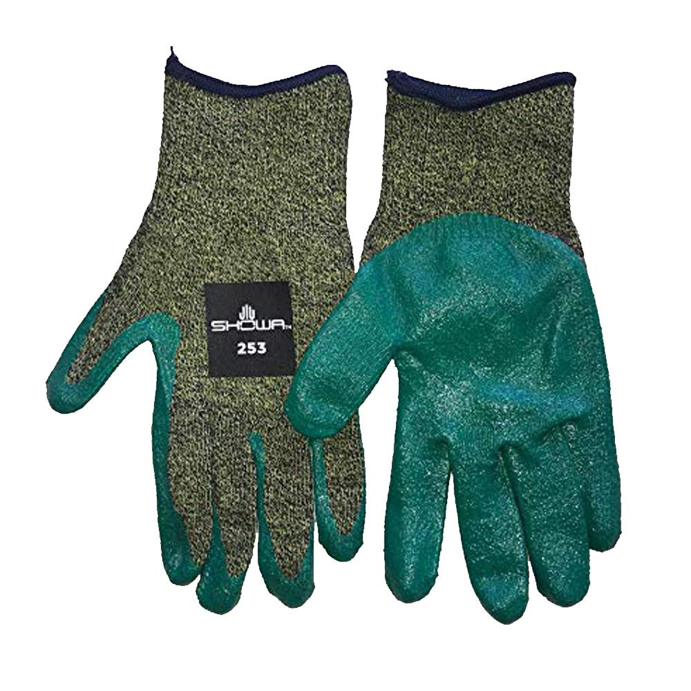 12 Pack Showa 253 Showa-Best Glove ANSI Level A6 Cut Resistant Nitrile Glove 12, Extra Large