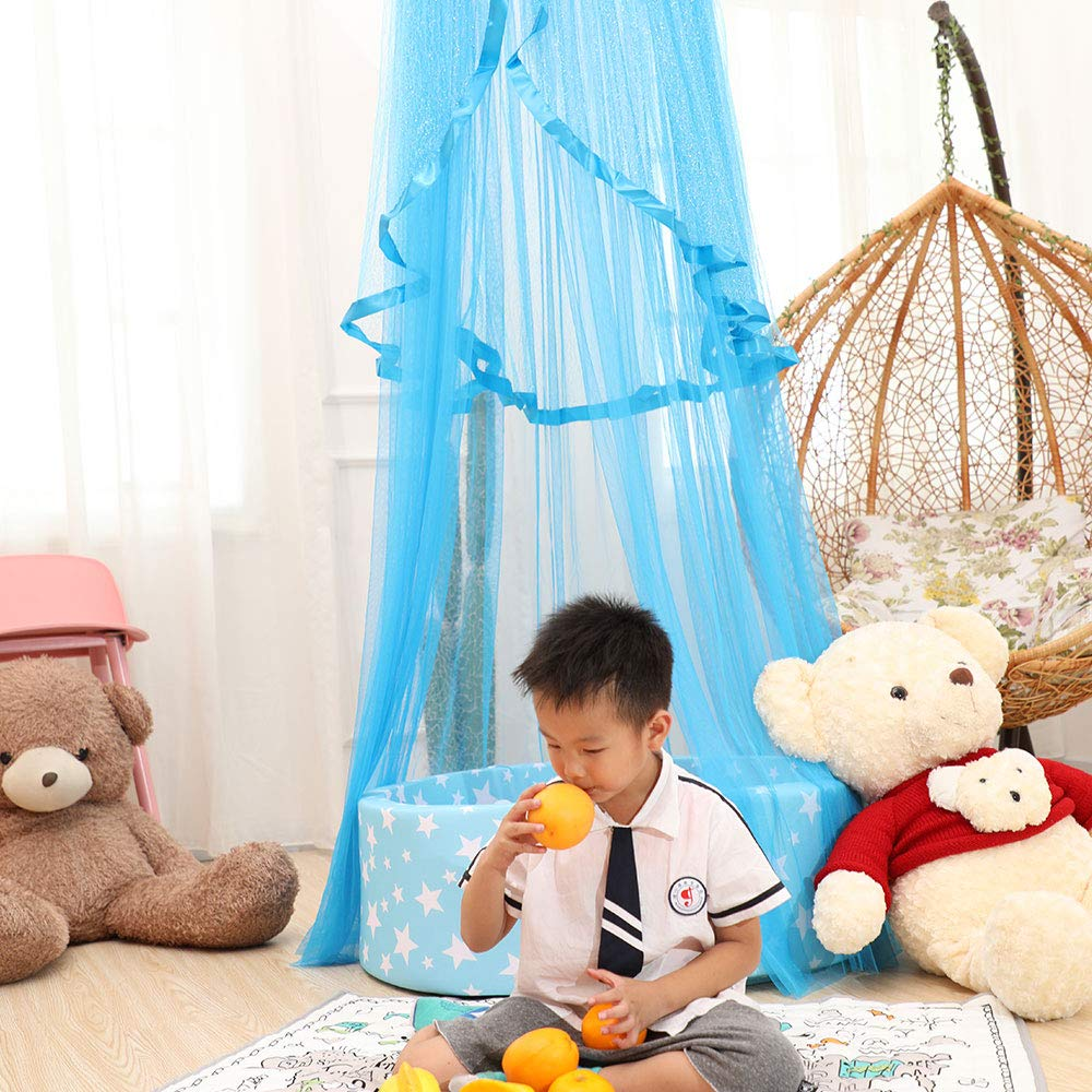 Yikanwen Baby Canopy Bed Canopy Children Bed Curtain Yarn Decoration Mosquito Net for Princess Play Tents Nursery and Bedroom Decoration