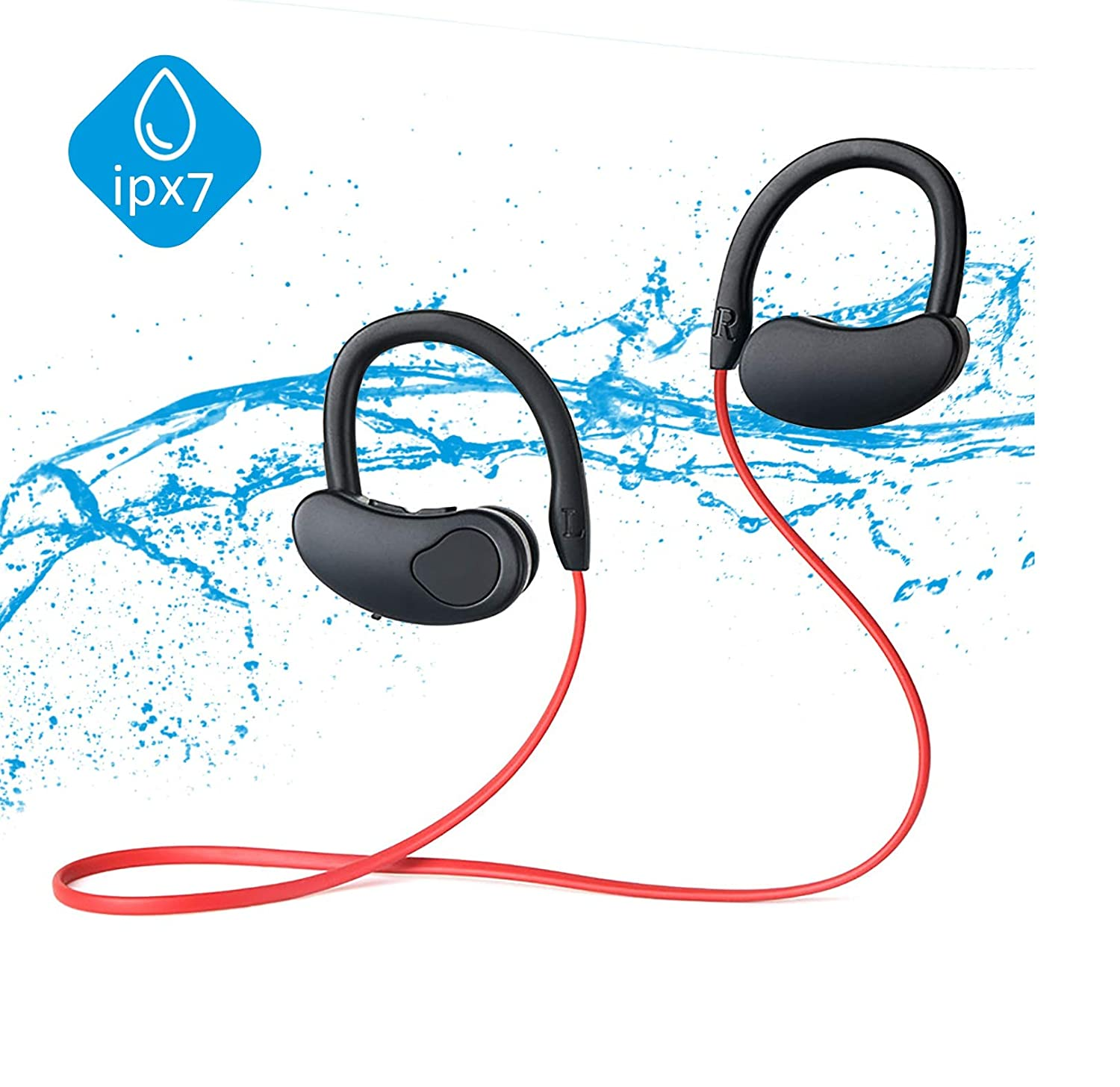 Bluetooth Sport Headphones Bluetooth Headset Wireless Earbuds Bluetooth 5.0 HiFi Bass Stereo Sweatproof Earbuds w Mic Noise Cancelling Headset for Workout Running Gym